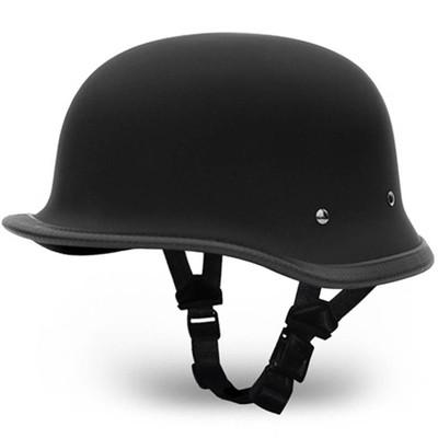 Matte Black German Novelty Motorcycle Helmet | Novelty Helmets by Daytona XS-2XL