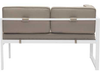 Golden Beach Chaise LHF: As shown in galvanized aluminum frame in a bright white with taupe cushions: (back view)