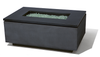 Rectangle Gas Fire Pit: Shown in powder coat oxizided aluminum zinc finish with the ultimate black granite top.