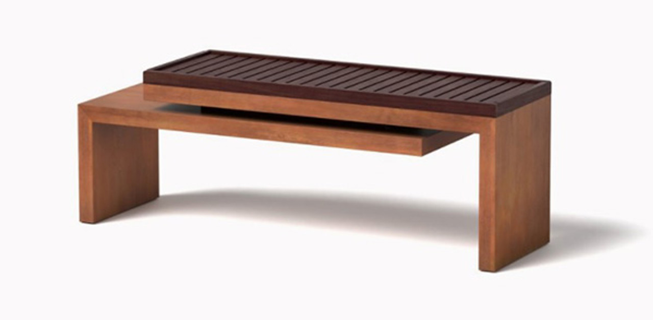 Cantilever Bench In CorTen Steel Natural Rust Finish With IPE Wood Bench  Seat Top