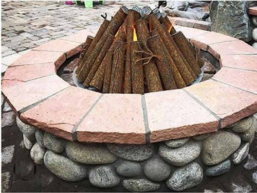 Round Ready To Finish Fire Pit Kit