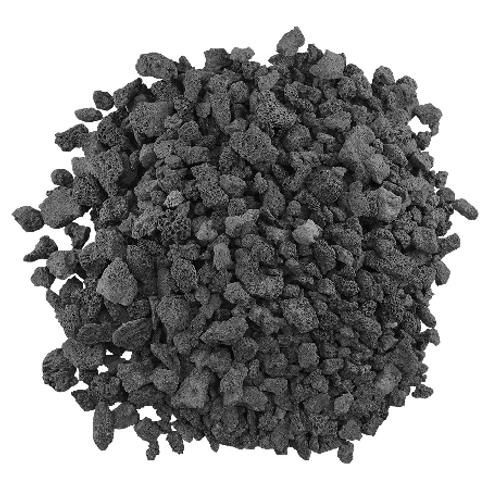 "Medium Black Lave Rocks: As shown Black Lava Rocks, size: ½"" to ¾""."