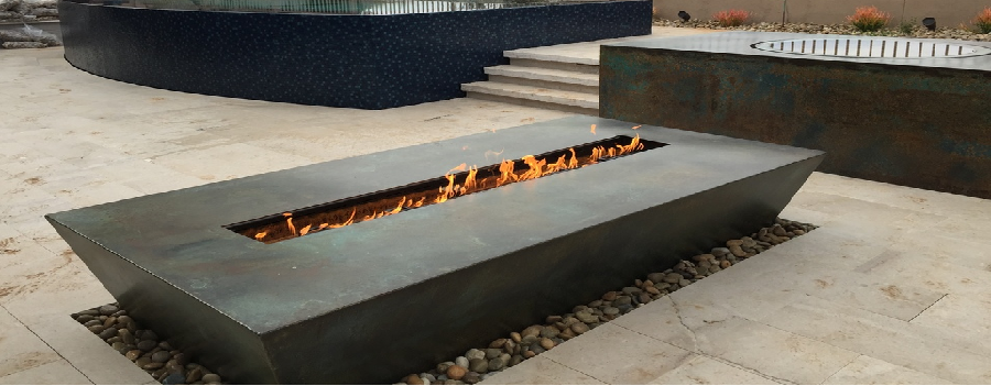 High End Gas Fire Tables