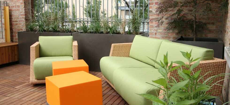 High quality outdoor metal planters and patio furniture