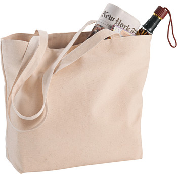 12 oz. Cotton Signature Zippered Shopper Tote | Hardgoods.ca