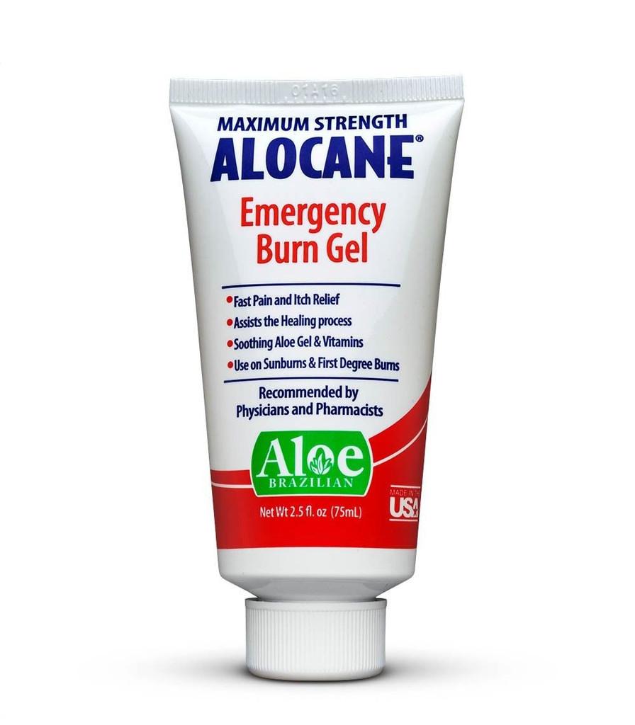 Alocane Maximum Strength Emergency Burn Gel 2.5 oz