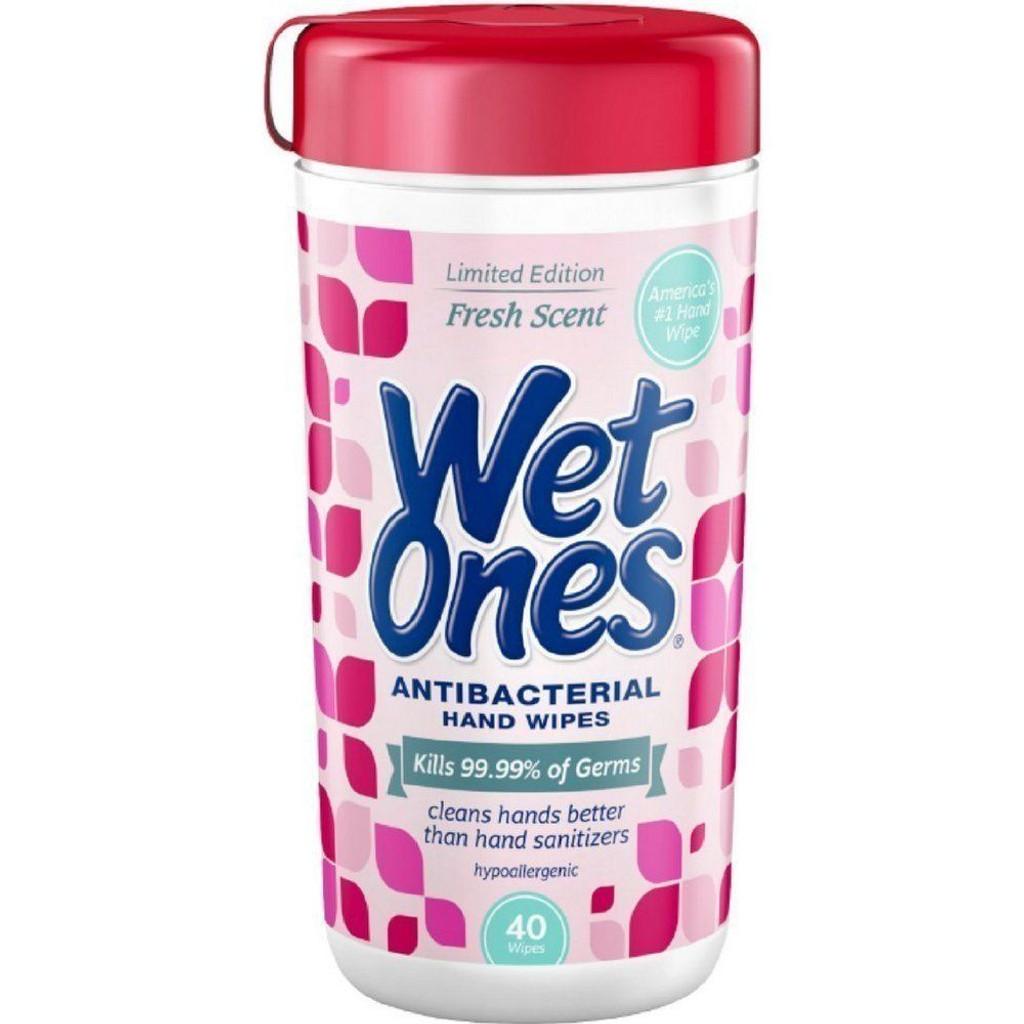 WET ONES Antibacterial Hand Wipes Fresh Scent 40 ea