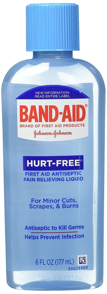 Band Aid First Aid Hurt Free Antiseptic Wash 6 Ounce