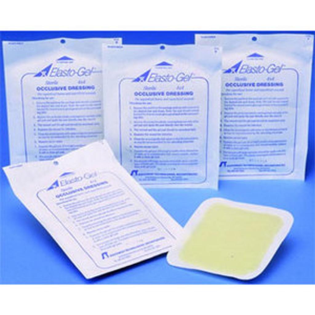 INV Elasto-Gel™ Hydrogel Occlusive Dressing 4X4 - Box of 5