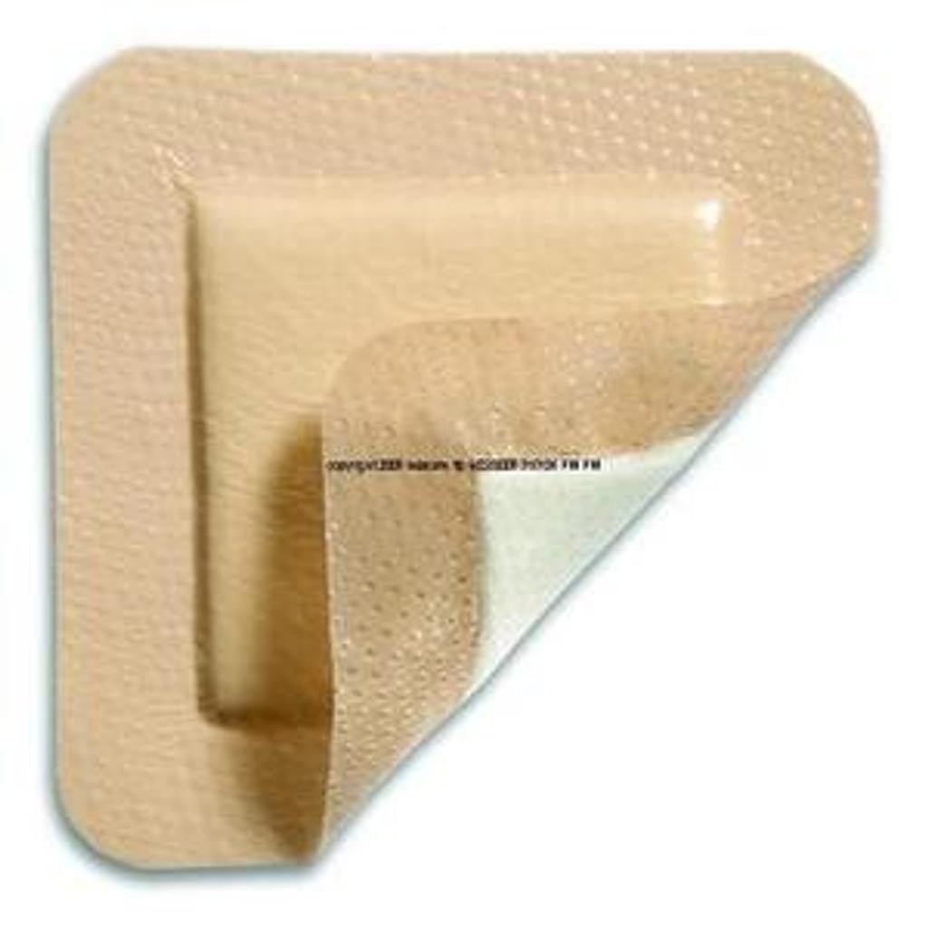 "INV Mepilex Border Self-Adherent Absorbent Foam Dressing - Size 4"" x 4"" - Box of 5"