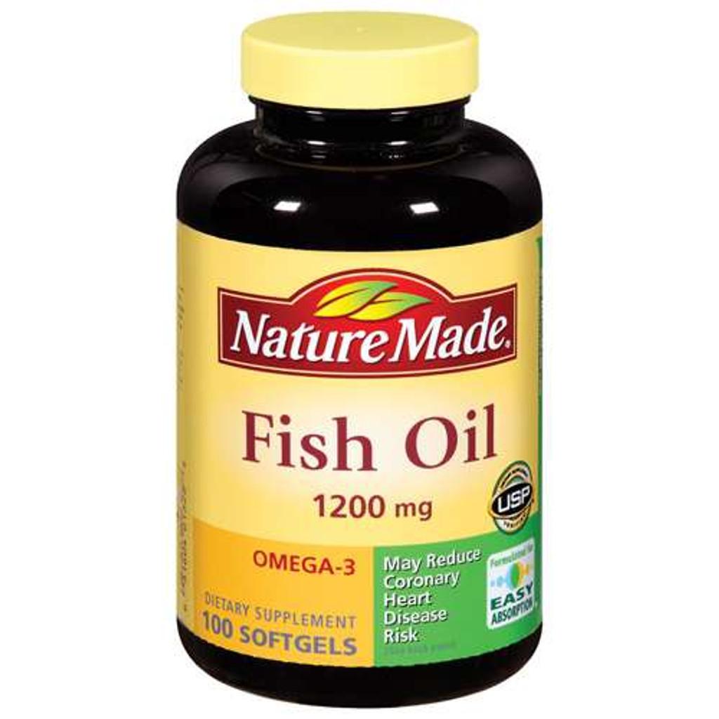 Nature Made Fish Oil 1200 mg Softgels 100ct