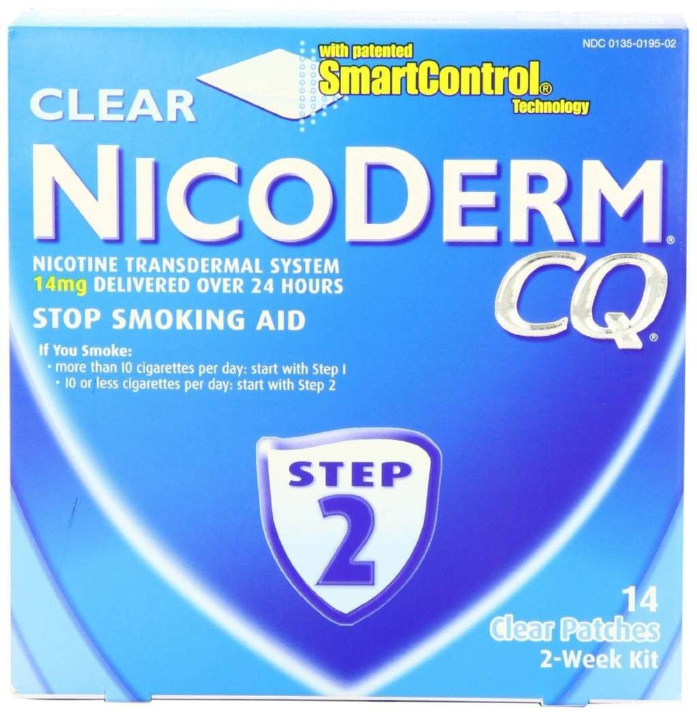 NICODERM CQ 14MG PATCH CLEAR 14CT