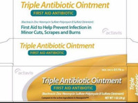 Actavis Triple Antibiotic Ointment 0.5 oz, First Aid to Help Prevent Infection