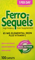 Ferro-Sequels High Potency Iron Supplement with Vitamin C- 100 ea