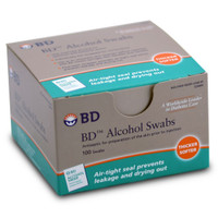 BD ALCOHOL SWABS 100/Box Antiseptic skin cleanser