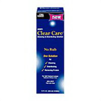 Aosept clear care cleaner and disinfectant solution for contact lens - 12 oz
