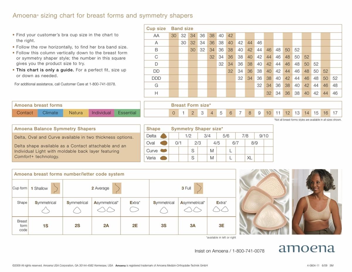 Size Chart Amoena