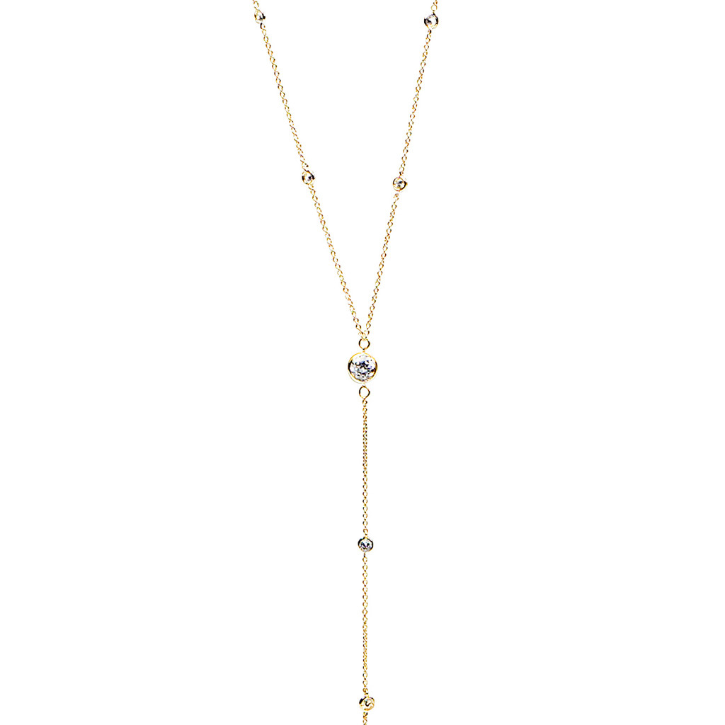 Lisa Freede Diamonds by the Yard Necklace in Metallic Gold 5qOSmkvV