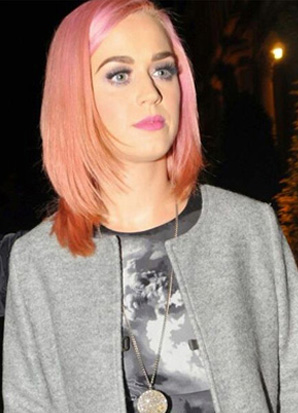 Katy Perry wearing the Lisa Freede Micro Pave Disc Necklace on Slim Chain