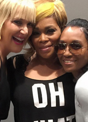 Lisa Freede with T-Boz and Chilli from TLC