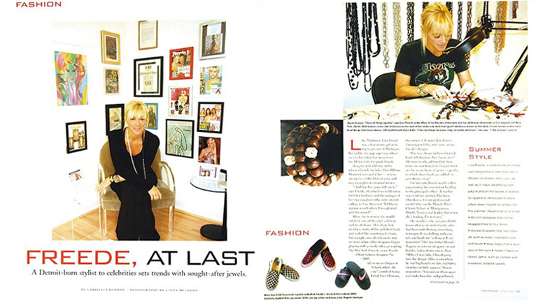 Lisa Freede featured in Detroit News July 2006