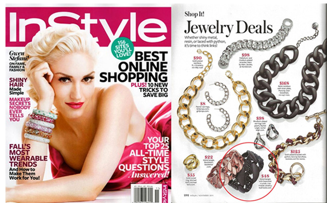 Lisa Freede jewelry in InStyle Magazine November 2011