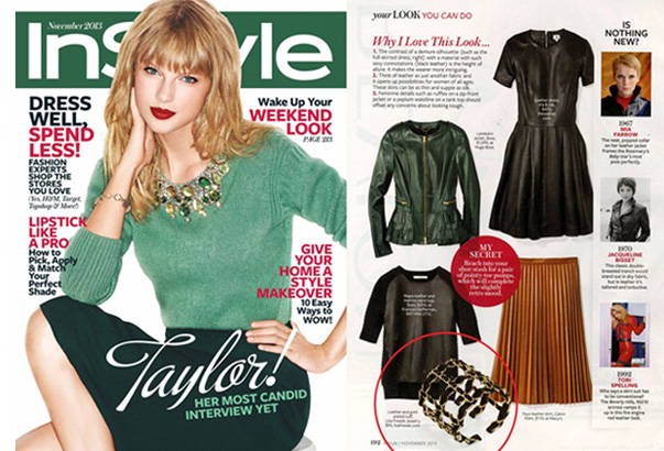 Lisa Freede jewelry in InStyle Magazine November 2013