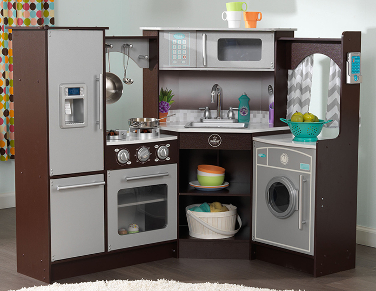 Superbe KidKraft Ultimate Corner Play Kitchen With Lights U0026 Sounds