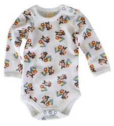 sapling camping bear long sleeved babygrow