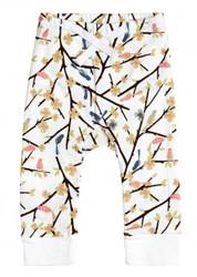 sapling organic bird and tree baby pants