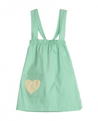 Sapling Cross-My-Heart Dress: Spearmint Green