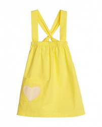 Sapling Cross-My-Heart Dress: Lemon Sherbet Yellow