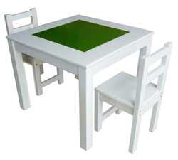 qtoys white chalkboard kids table and chairs