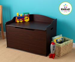 austin toy box - dark wood/espresso