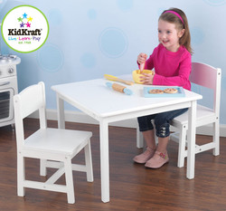kids white table and chair set