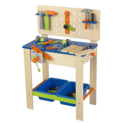 toy workbench and tool set