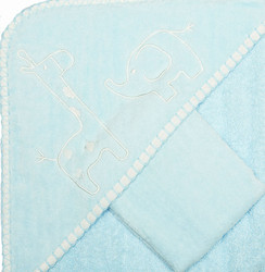 blue safari baby towel set