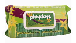 Playdays Eco Bamboo Wipes x 12 - Bulk Pack ($4.99 each)