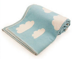 david fussenegger clouds cot blanket