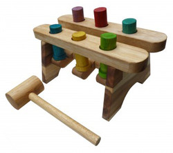 qtoys pound a peg wooden hammer game
