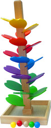 wooden colourful marble run