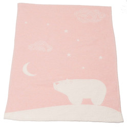 David Fussenegger Finn Blanket - Pink Arctic Night Sky