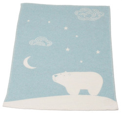 David Fussenegger Finn Bassinet Blanket - Blue Arctic Night Sky