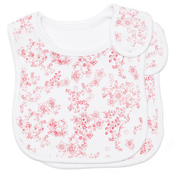 japanese blossom cotton bib set