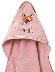 Breganwood Organics Baby & Toddler Hooded Towel - Woodland Collection - Playful Fox