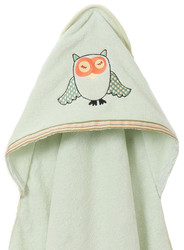 Breganwood Organics Baby & Toddler Hooded Towel - Woodland Collection - Sleepy Owl