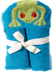 Breganwood Organics Kids Hooded Towel - Rainforest Collection - Silly Frog