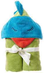 Breganwood Organics Kids Hooded Towel - Rainforest Collection - Funny Bird