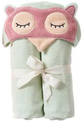 Breganwood Organics Kids Hooded Towel - Woodland Collection - Sleepy Owl