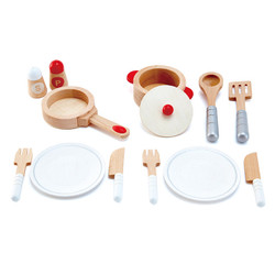 hape pots and pans cook and serve wooden accessories kitchen set